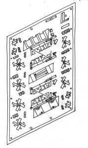 Tekening indelingsschets