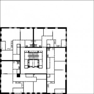 Tekening 9e t/m 15e verdieping