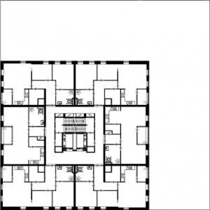 Tekening 4e t/m 8e verdieping