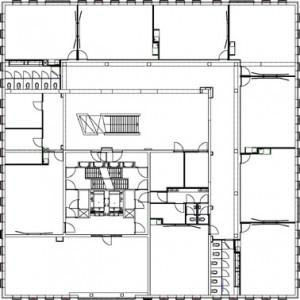 Tekening 1e verdieping