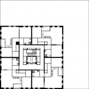 Tekening 16e t/m 20e verdieping