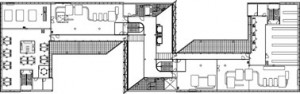 Tekening plattegrond zevende verdieping
