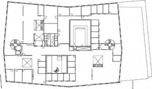Tekening tweede verdieping