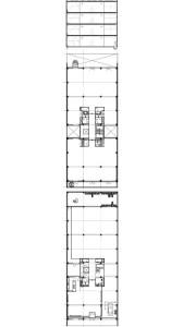 Tekening plattegrond begane grond, verdieping en doorsnede
