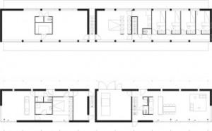 Tekening plattegronden begane grond en verdieping