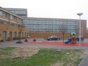 Eengezinswoningen aan het plein