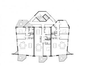 Tekening tallhouse 3e verdieping