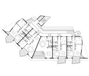 Tekening longhouse 4e verdieping