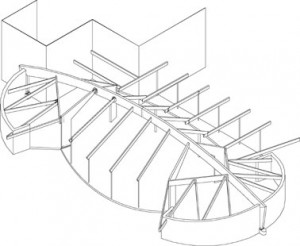 Tekening van de draagconstructie