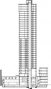 Tekening doorsnede toren 3