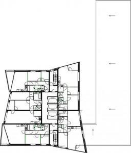 Tekening 7e verdieping toren 3
