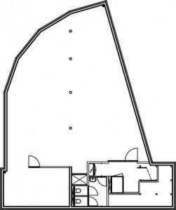 Tekening plattegrond verdieping de distel