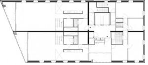 Tekening plattegrond penthouse verdieping 1