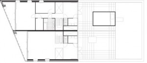 Tekening plattegrond penthouseverdieping 2
