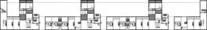 Tekening plattegronden eerste verdieping