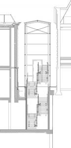Tekening detail aansluiting bouwdelen