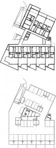 Tekening plattegronden parkeerkelder,begane grond en verdiepingen2