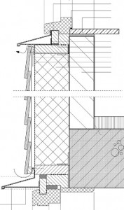 Tekening verticale doorsnede gevel