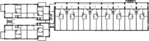 Tekening plattegrond tweede verdieping B en C