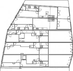 Tekening plattegrond begane grond