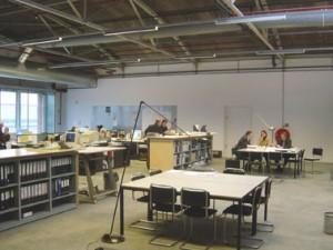 Overlegplekken en atelier
