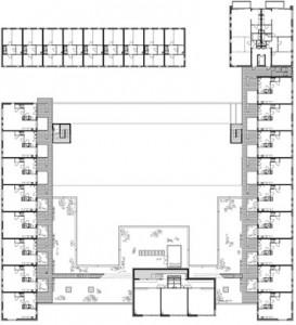 Tekening plattegrond tweede verdieping