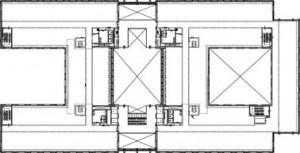 Tekening plattegrond eerste verdieping
