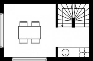 Tekening plattegrond eerste verdieping type 2