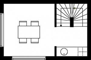 Tekening plattegrond eerste verdieping type 3