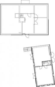 Tekening plattegrond niveau -1