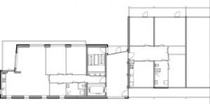 Tekening plattegrond kopwoning en flat
