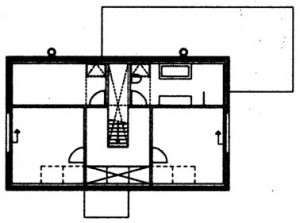 Tekening eerste verdieping
