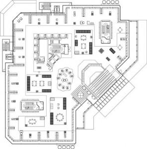 Tekening vijfde verdieping