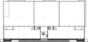 Tekening plattegrond eerste verdieping bedrijfsverzamelgebouw