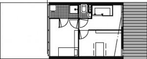 Tekening derde verdieping woonwerkwoning