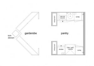 Tekening plattegrond pantry
