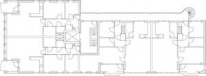 Tekening plattegronden verdiepingen appartementengebouw