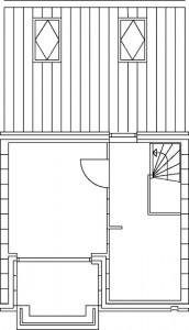 Tekening plattegrond derde verdieping type C