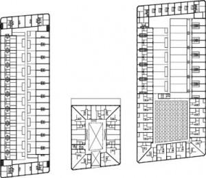 Tekening overzicht eerste verdieping