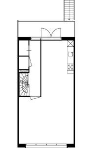 Tekening plattegrond eerste verdieping maisonnette
