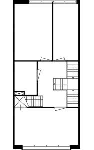 Tekening plattegrond eerste verdieping eengezinswoning