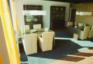 Het meubilair komt van de meubelboulevard