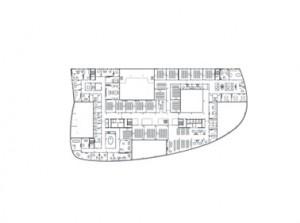 Tekening plattegrond 4e verdieping