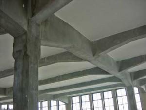 Detail betonconstructie