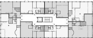 Tekening plattegrond eerste en tweede verdieping
