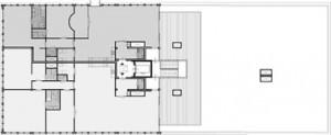 Tekening plattegrond derde verdieping