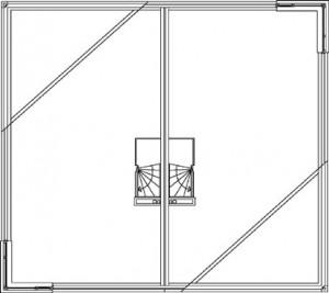 Tekening 2-onder-1-kap tweede verdieping