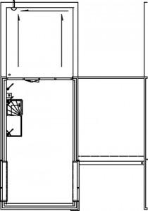 Tekening kadewoning tweede verdieping