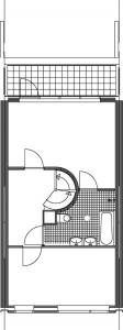 Tekening plattegrond tweede verdieping standaardwoning