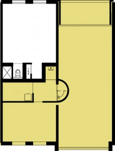 Tekening plattegrond tweede verdieping appartementen